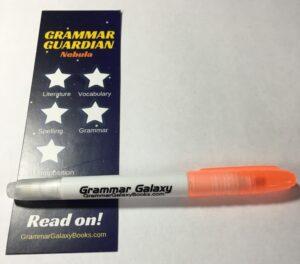 Grammar Galaxy bookmark and highlighter